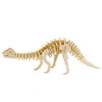 Деревянный конструктор Robotime Апатозавр 39 деталей , фото 1