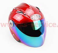 Шлем открытый HF-210 M- КРАСНЫЙ