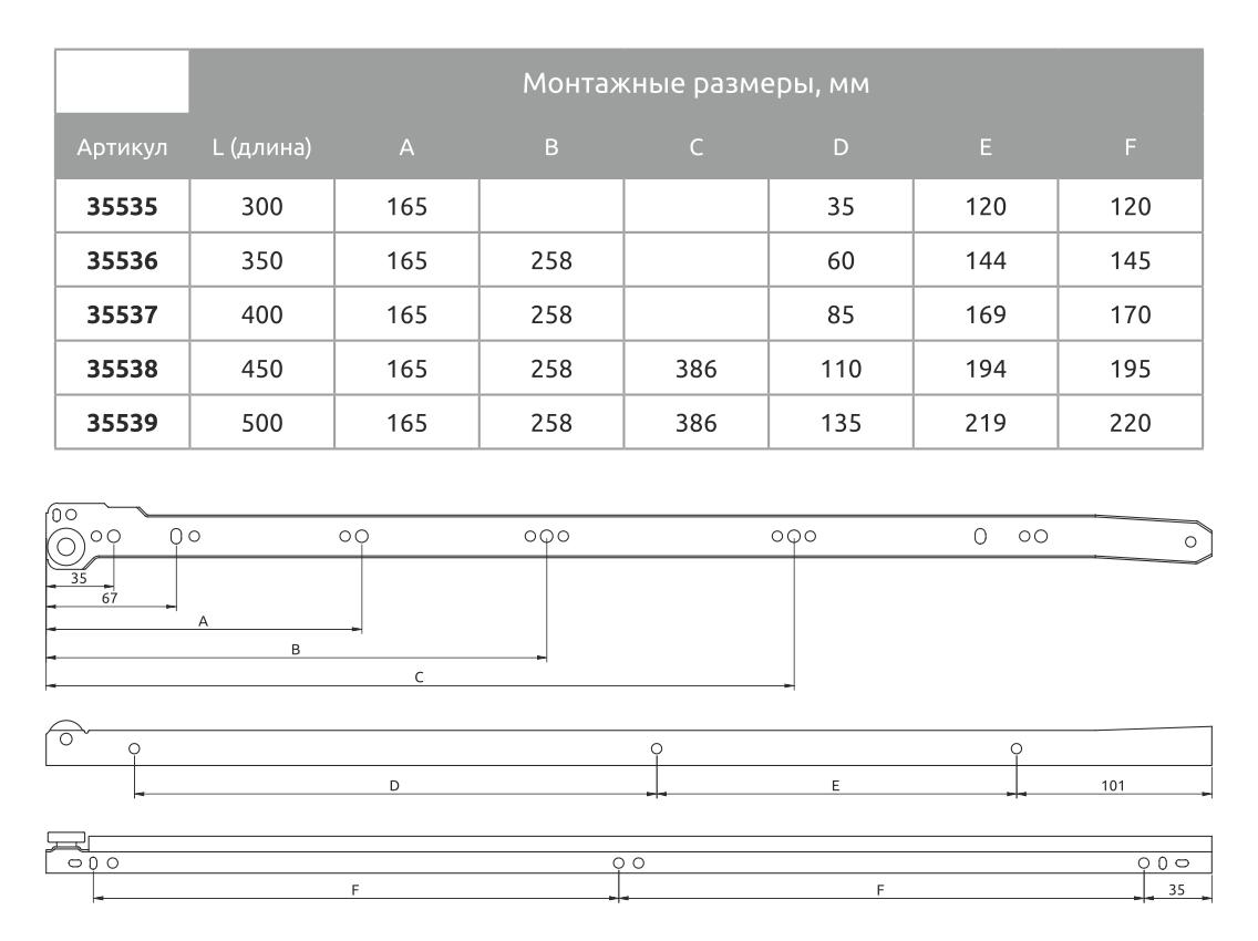Напрямна роликовий GIFF L = 400 коричневий