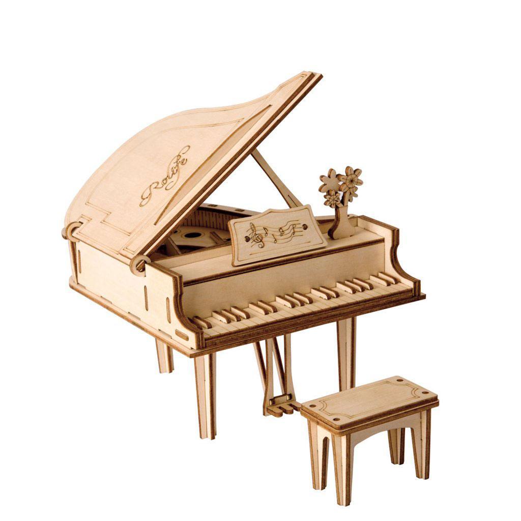 Конструктор деревянный Robotime Рояль 74 детали
