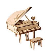 Конструктор деревянный Robotime Рояль 74 детали, фото 1