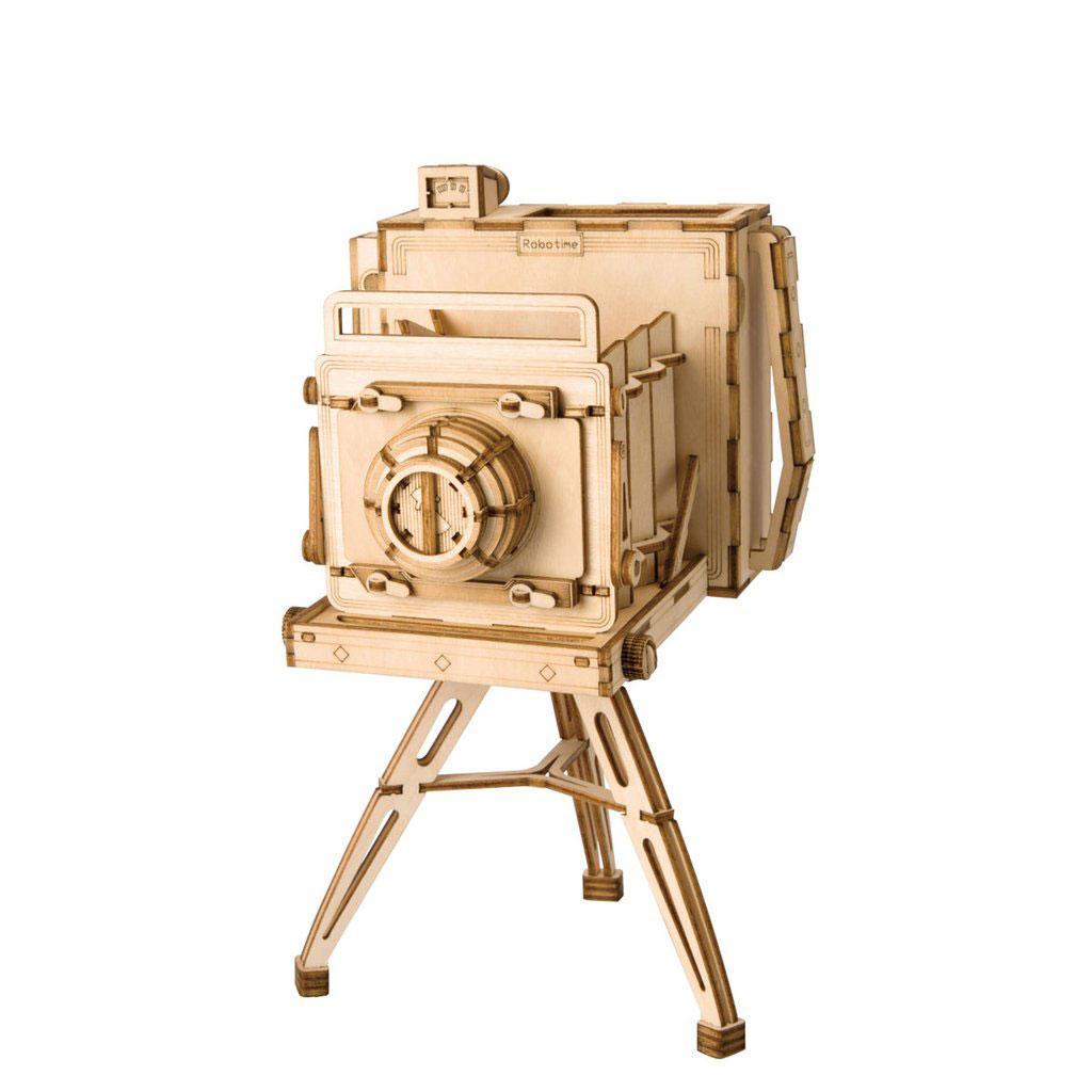 Конструктор из дерева Robotime Винтажная камера 140 деталей