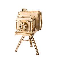 Конструктор из дерева Robotime Винтажная камера 140 деталей, фото 1