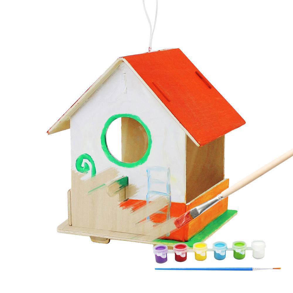 Конструктор деревянный Robotime Птичий дом 3 9 деталей