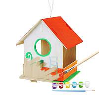Конструктор деревянный Robotime Птичий дом 3 9 деталей, фото 1