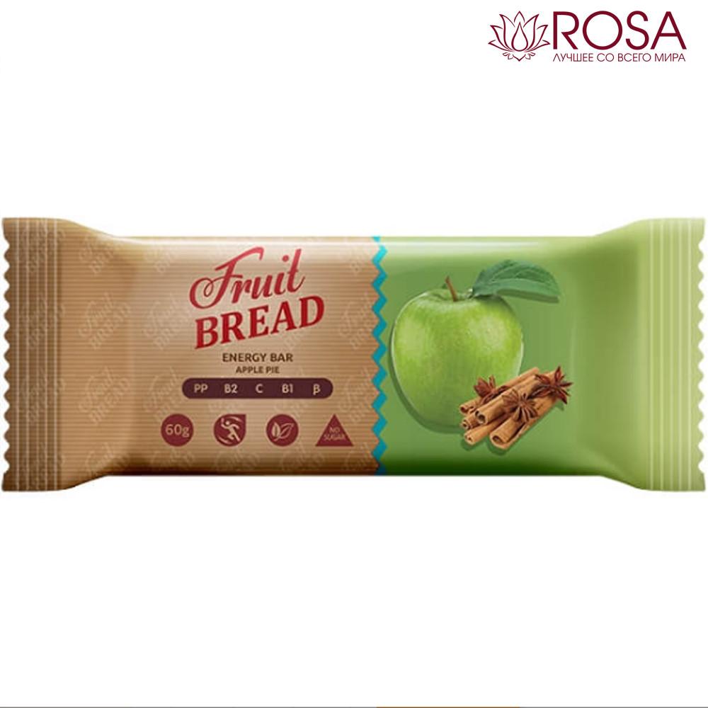 """Батончик """"Фруктовий хліб зі смаком яблучного пирога"""", 60 грам"""