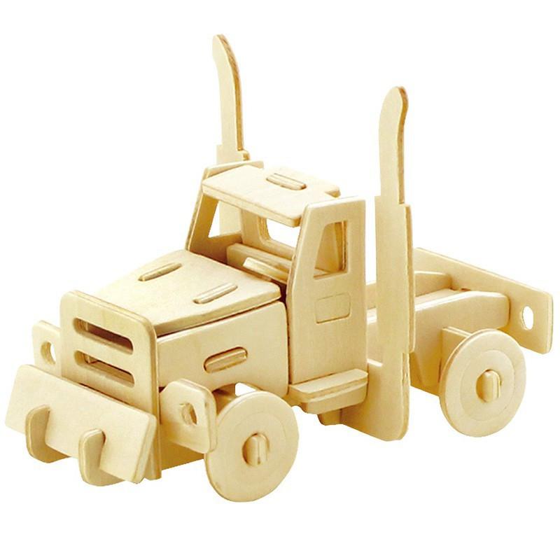Деревянный конструктор Robotime Американский грузовик 20 деталей