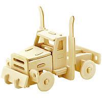 Деревянный конструктор Robotime Американский грузовик 20 деталей, фото 1