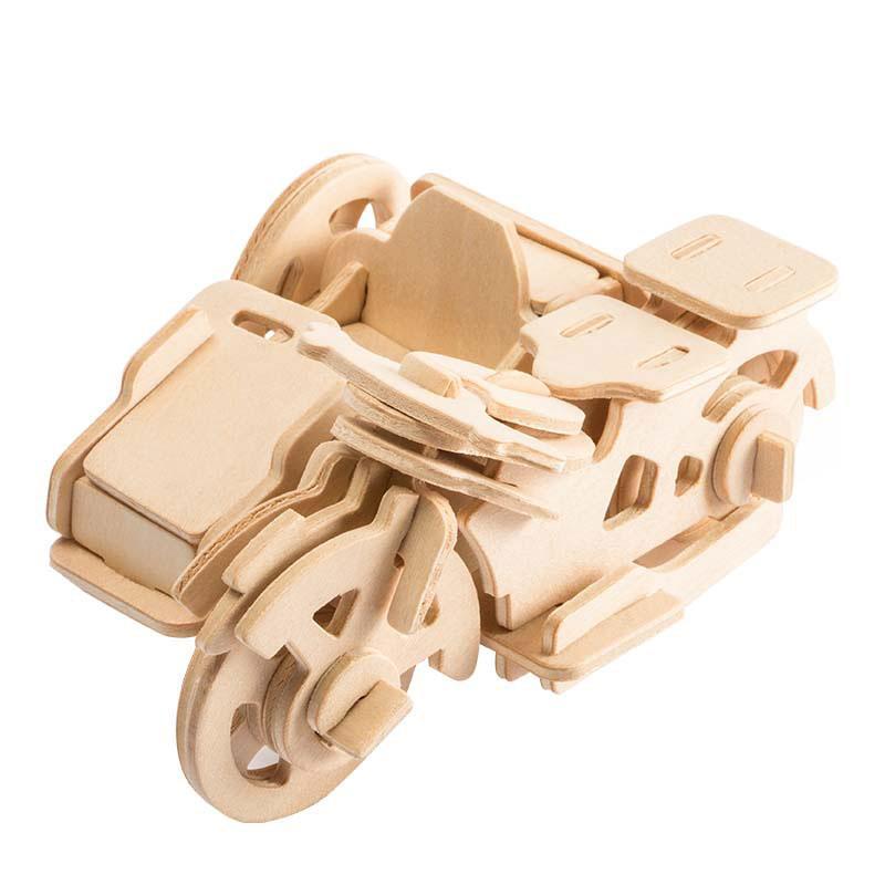 Конструктор  Robotime из дерева Трицикл 42 детали