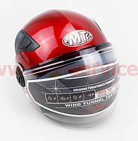 Шлем открытый + откидные очки HF-256 XXL- КРАСНЫЙ