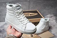 Женские зимние кроссовки на меху в стиле Vans Old School Winter, белые. Код товара: KW - 30722