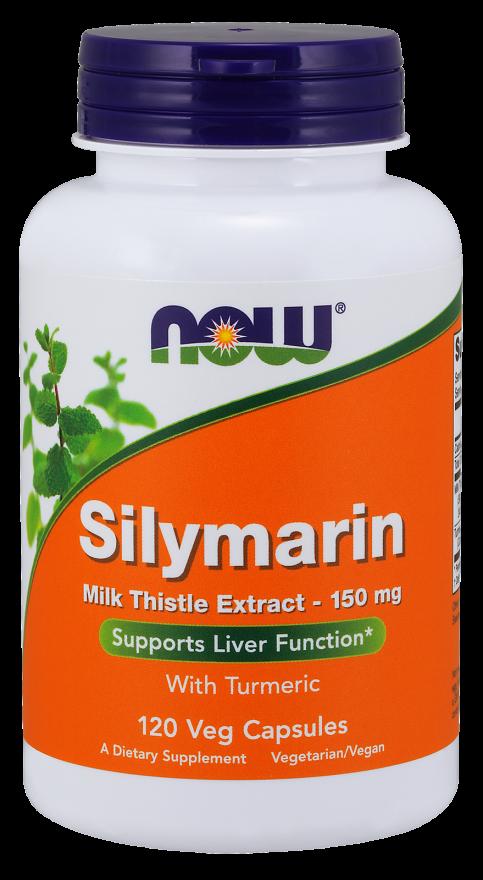 NOW Silymarin 150 mg 120 veg caps, НАУ Силимарин 150 мг 120 капсул