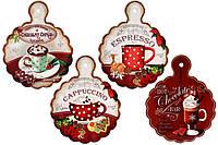 Подставка под горячее в форме доски Рождественский кофе 23см, 4 вида BonaDi 858-572