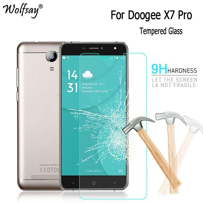 Закаленное стекло от фирмы ETECLA для моделей Doogee X7 Pro  X7 X7S и Hafury Umax / Есть чехлы