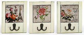 Вешалка с двойным крючком Roses 18см, 3 вида BonaDi 487-108