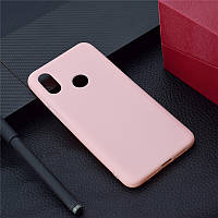Чехол для Xiaomi Redmi Note 6 Pro силикон soft touch бампер светло-розовый