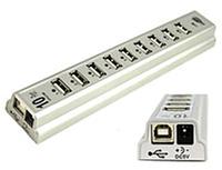 Hub 10 port+ адаптер