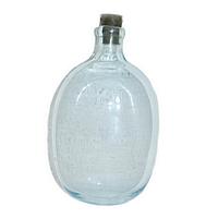 Фляга (советская, времен ВОВ, белое стекло, в чехле), фото 1