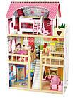 Игровой кукольный домик 4109 3 этажа + 2 куклы для детей, фото 3