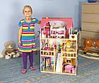 Игровой кукольный домик 4109 3 этажа + 2 куклы для детей, фото 4