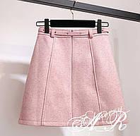 Женская модная юбка с поясом (4 расцветки), фото 1