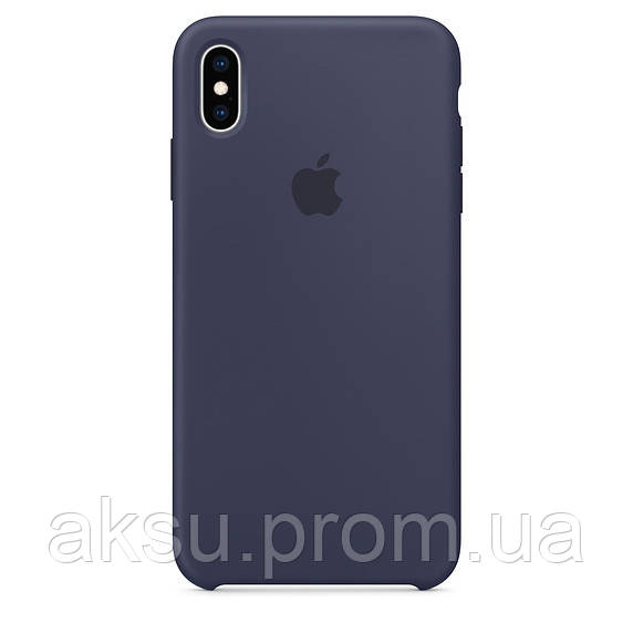 Чехол для iPhone XS Silicone Case Midninght Blue