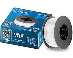 Дріт зварювальний з флюсом VITA E71T-GS 1 кг 0,8 мм | Дріт зварювальний флюсова 0,8 мм E71T-GS1