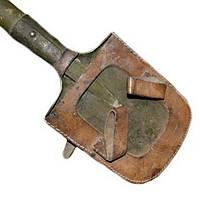 Лопата (времен ВОВ, с кожаным чехлом 43 - 44 гг), фото 1