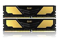Модуль памяти DDR4 2x16GB/2400 Team Elite Plus Gold/Black (TPD432G2400HC16DC01)