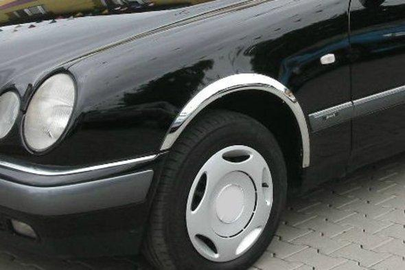 Накладки на арки (4 шт, нерж) - Mercedes E-klass W210