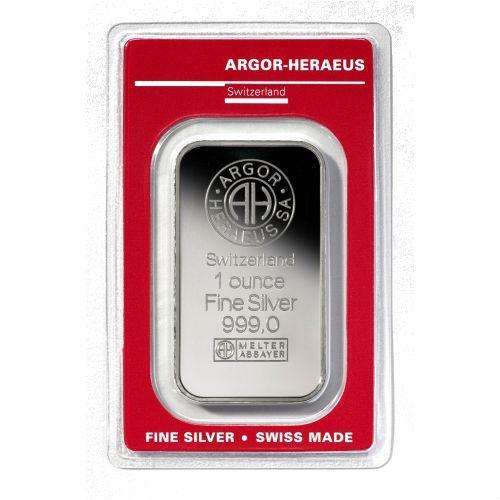 Слиток Серебро 1 тр. унция грамм Argor-Heraeus