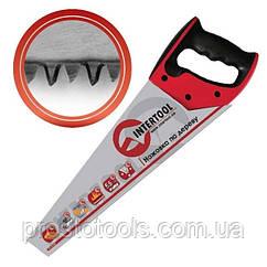 Ножовка по дереву 500 мм с каленым зубом 3-ая заточка Intertool  HT-3106