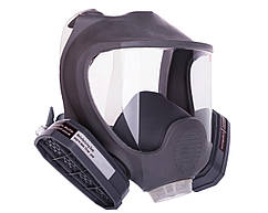 Полнолицевая маска VITA с двумя химическими фильтрами (марка А) в резиновой оправе (аналог 3М 6700, 3М 6800, 3М 6900)