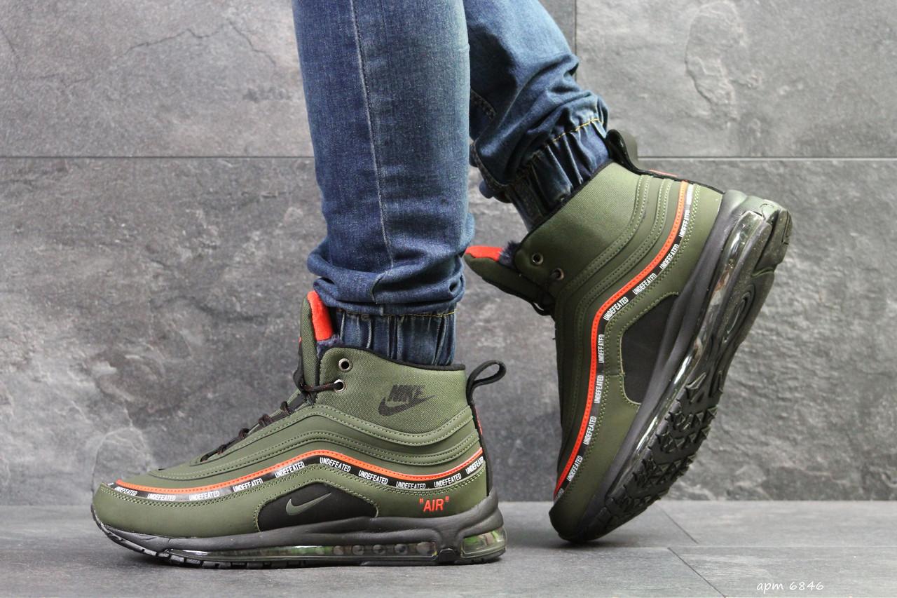 936d0285 Мужские зимние кроссовки Nike Air Max 97 зеленые ( Реплика ААА+) ...