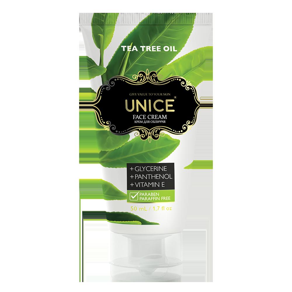 Крем для лица с чайным деревом UNICE, 50 мл