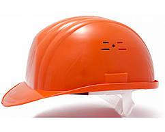Каска будівельна захисна оранжева