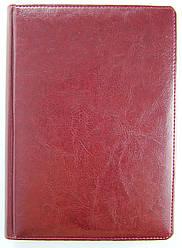 Ежедневник датированный 2020 BRISK OFFICE SARIF Стандарт А4 (21х29) бордовый с фольгированным торцом