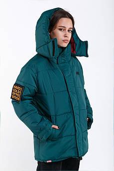 Зимняя куртка HARD OVERSIZE - Зеленая, Зимова куртка зелена