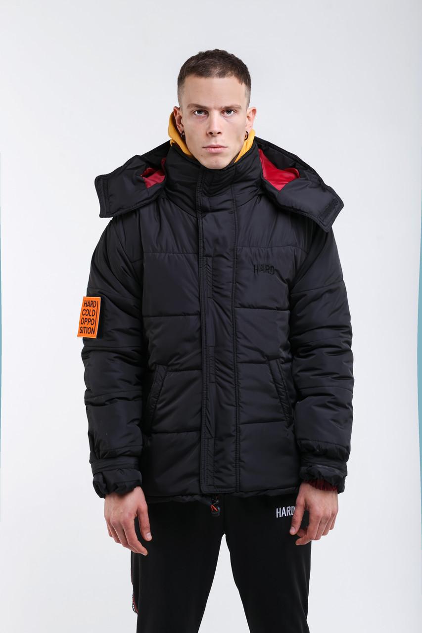 Зимняя куртка HARD Oversize размер M – черная, куртка зимова чорна