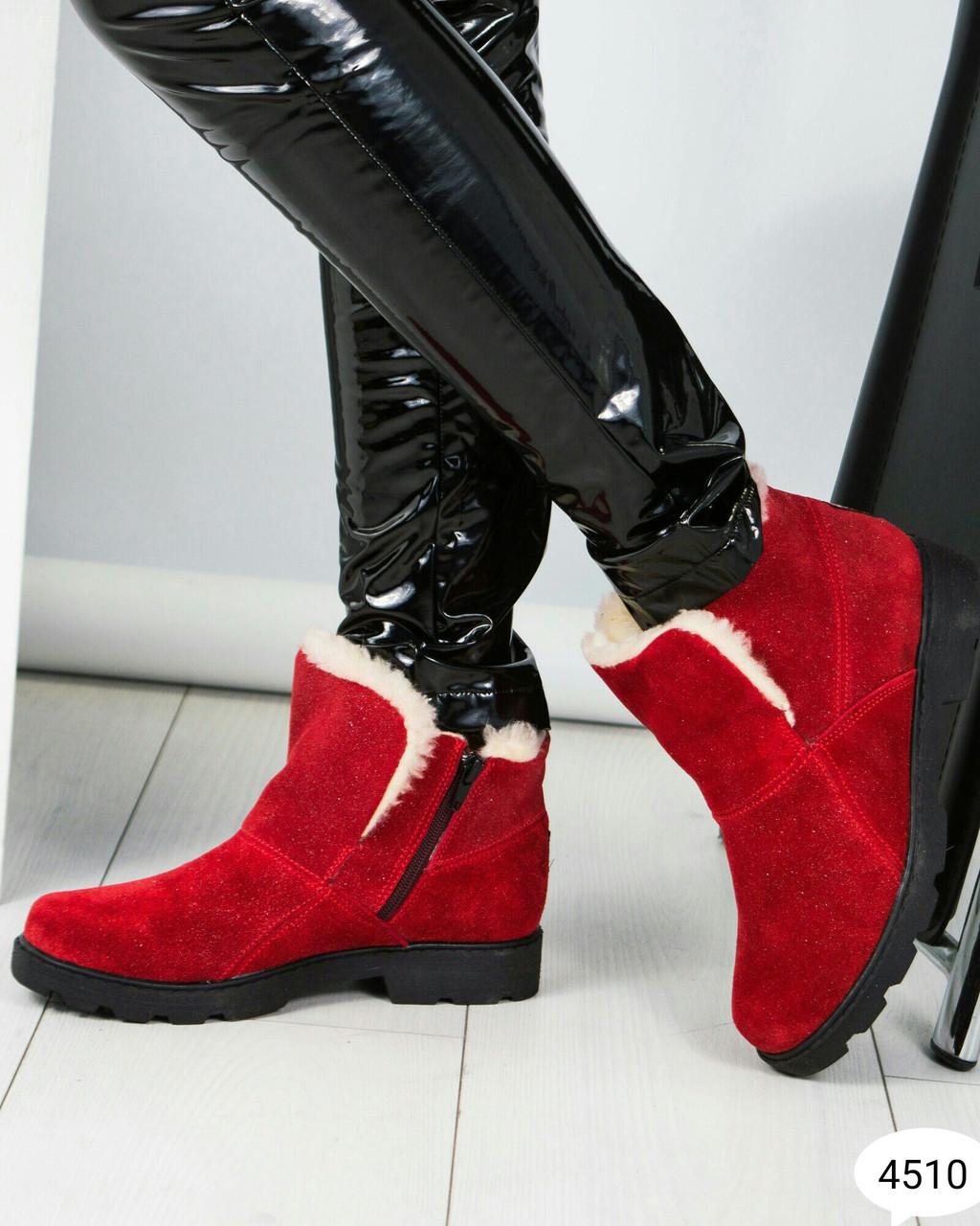 Зимние красные ботинки Размер 40