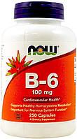 Витамин NOW B-6 100 mg 250 caps, НАУ Б-6 100 мг 250 капсул