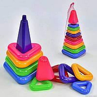 """Пирамидка №7 """"ЯУ"""" Пирамидка детская, пирамидка с кольцами, пирамида 10 колец 1809"""