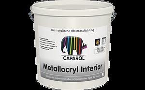 Блестящая дисперсионная краска для внутренних работ (под металл) Capadecor Metallocryl INTERIOR, 2,5 литра