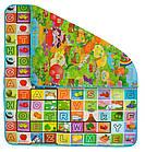 Дитячий розвиваючий килимок ігровий двосторонній 180х200х0,5 см для дітей, фото 2