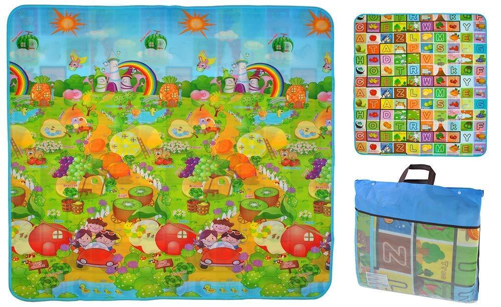 Дитячий розвиваючий килимок ігровий двосторонній 180х200х0,5 см для дітей