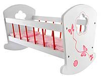 Кроватка для кукол (белая), фото 1
