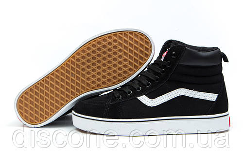 Зимние кроссовки на меху Vans Old School Winter, черные (30725), р.  [  36 37 38 39  ]