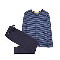 Пижама ATLANTIC NMP-307, 100 % хлопок, Польша мужские пижамы, пижама, L; XXL, XXL оранжевый, denim; оранжевый