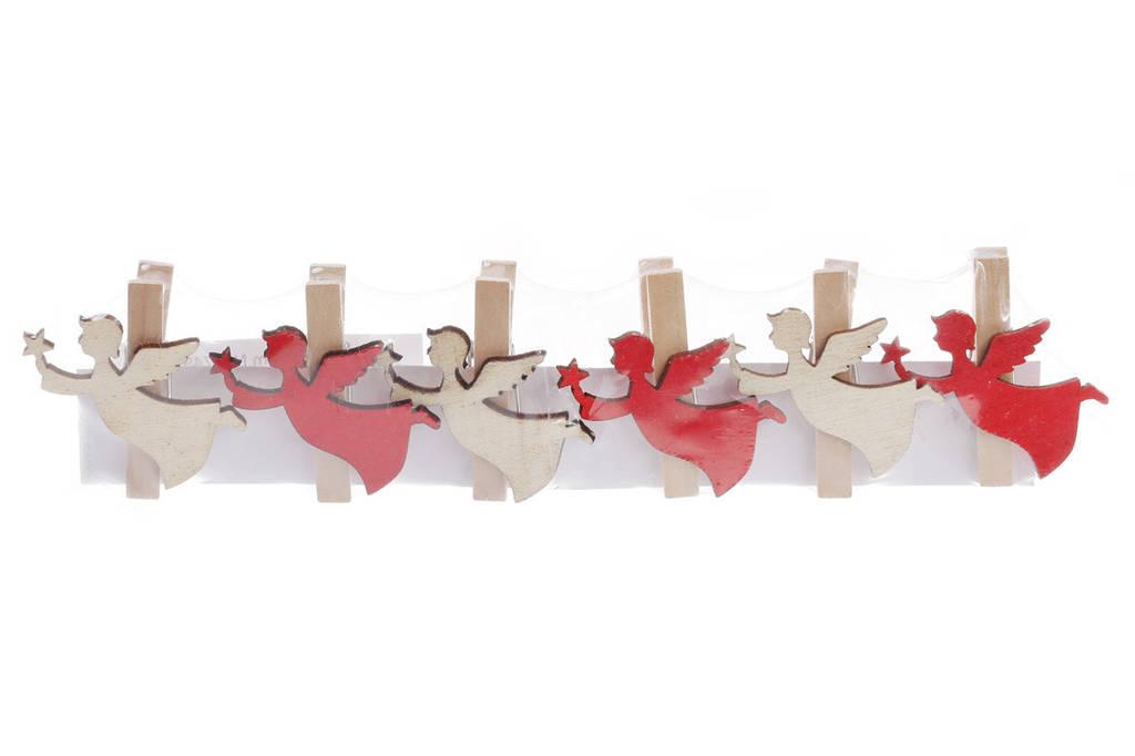 Набор декоративных прищепок (6шт) Ангел, 4.5см BonaDi 785-229