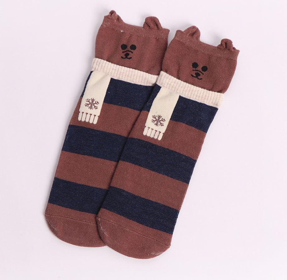 Носки новогодние с принтом